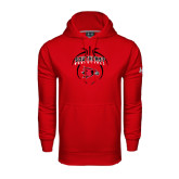 State Under Armour Red Performance Sweats Team Hood-Graphics in Basketball