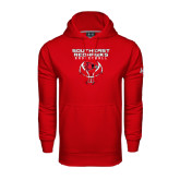 State Under Armour Red Performance Sweats Team Hood-Graphics on Basketball