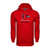 State Under Armour Red Performance Sweats Team Hood-Softball