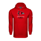 State Under Armour Red Performance Sweats Team Hood-Tennis