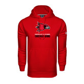 State Under Armour Red Performance Sweats Team Hood-Cheerleading