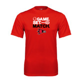 Syntrel Performance Red Tee-Tennis Game Set Match