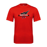 Syntrel Performance Red Tee-Track and Field Side Design