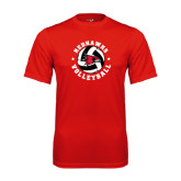 Performance Red Tee-Volleyball Stars Design