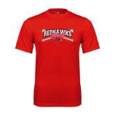 Performance Red Tee-Baseball Bats