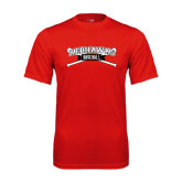 Syntrel Performance Red Tee-Baseball Crossed Bats