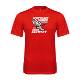 Syntrel Performance Red Tee-Cross Country Winged Shoe