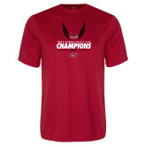 Performance Red Tee-2017 OVC Mens Outdoor Track and Field Champions