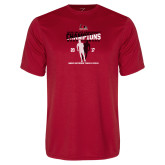 Performance Red Tee-2017 OVC Mens Outdoor Track and Field Champions back to back
