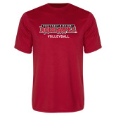 Bookstore Performance Red Tee-Volleyball