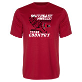 Bookstore Performance Red Tee-Cross Country