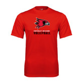State Syntrel Performance Red Tee-Volleyball