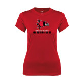 State Ladies Syntrel Performance Red Tee-Marching Band