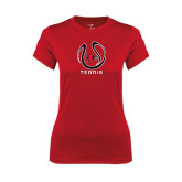Ladies Syntrel Performance Red Tee-Tennis Ball