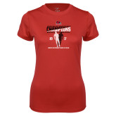 Bookstore Ladies Syntrel Performance Red Tee-2017 OVC Mens Outdoor Track and Field Champions back to back