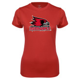 Bookstore Ladies Syntrel Performance Red Tee-Primary Logo