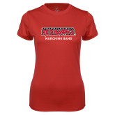 Bookstore Ladies Syntrel Performance Red Tee-Marching Band