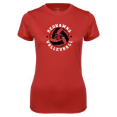 Bookstore Ladies Syntrel Performance Red Tee-Volleyball