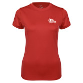 Bookstore Ladies Syntrel Performance Red Tee-SEMO Logo for Vinyl