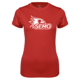 Bookstore Ladies Syntrel Performance Red Tee-SEMO Logo