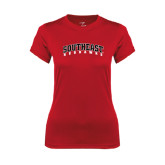 State Ladies Syntrel Performance Red Tee-Southeast Redhawks