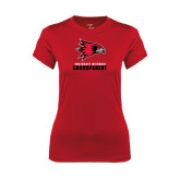 State Ladies Syntrel Performance Red Tee-Grandparent