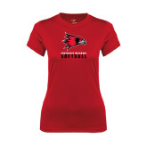 State Ladies Syntrel Performance Red Tee-Softball