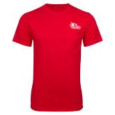 Bookstore Red T Shirt w/Pocket-SEMO Logo for Vinyl