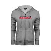 State Ladies Grey Fleece Full Zip Hoodie-Southeast Missouri Redhawks
