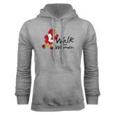 Grey Fleece Hoodie-Walk For Redhawks