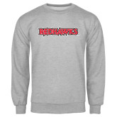 Grey Fleece Crew-Redhawks