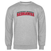Grey Fleece Crew-Arched Southeast Missouri Redhawks