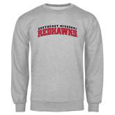 Grey Fleece Crew-Arched Southeast Missouri Redhawks