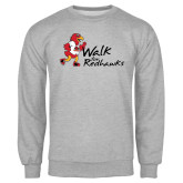 Grey Fleece Crew-Walk For Redhawks