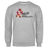 Grey Fleece Crew-Walk For Redhawks