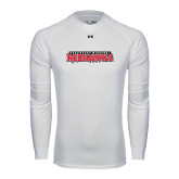 State Under Armour White Long Sleeve Tech Tee-Southeast Missouri Redhawks