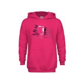 Bookstore Youth Raspberry Fleece Hoodie-Primary Logo Foil