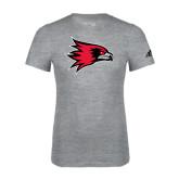 Adidas Sport Grey Logo T Shirt-Redhawk Head