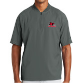 Bookstore New Era Charcoal Cage Short Sleeve 1/4 Zip-Primary Logo