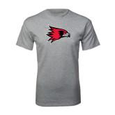 Grey T Shirt-Redhawk Head