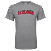 Grey T Shirt-Arched Southeast Missouri Redhawks