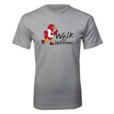 Grey T Shirt-Walk For Redhawks