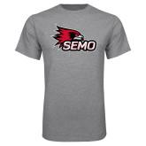 Bookstore Grey T Shirt-SEMO Logo