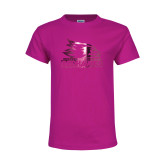 Bookstore Youth Cyber Pink T Shirt-Primary Logo Foil