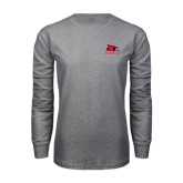 Grey Long Sleeve T-Shirt-Official Logo
