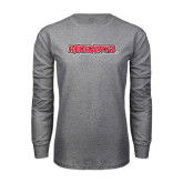 Grey Long Sleeve T-Shirt-Redhawks