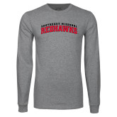 Grey Long Sleeve T-Shirt-Arched Southeast Missouri Redhawks