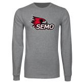 Bookstore Grey Long Sleeve T Shirt-SEMO Logo
