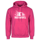 Bookstore Fuchsia Fleece Hoodie-Primary Logo