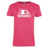 Bookstore Ladies Fuchsia T Shirt-Primary Logo